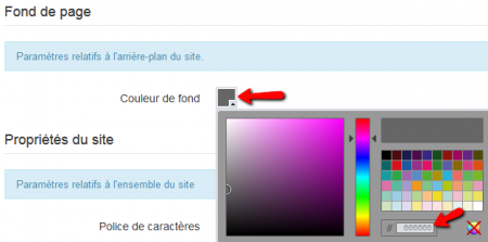 Code couleur hexadecimal exemple